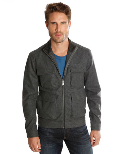 LUCKY BRAND Alpha Wool Blend Jacket