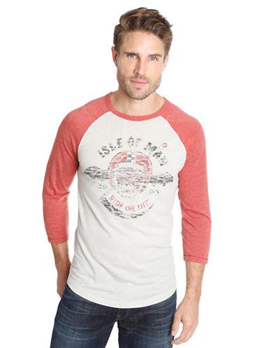 LUCKY BRANDIsle of Man Graphic Baseball T-Shirt