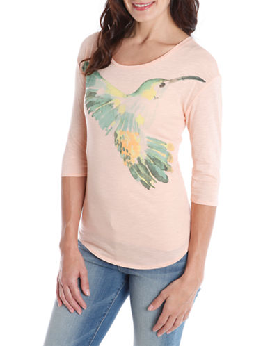 Lucky Brand Slub Hummingbird Graphic T-Shirt