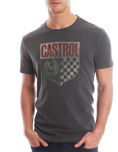 c91d80c5a 803049456582. Lucky Brand Castrol Graphic T-Shirt. EAN-13 Barcode ...
