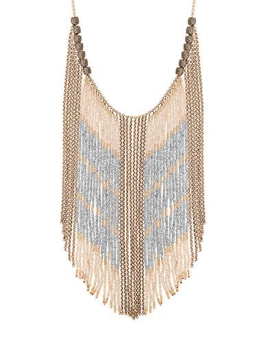 Lucky Brand Caseline Beaded Statement Necklace