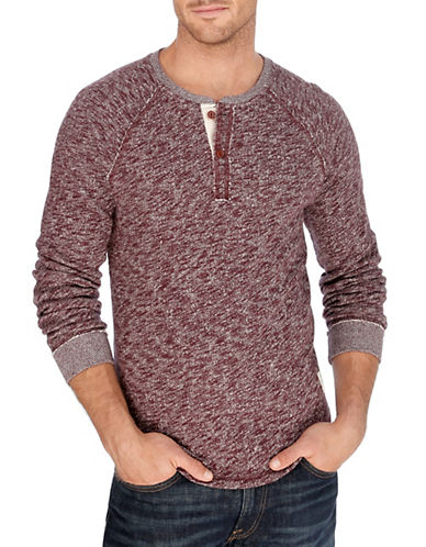 LUCKY BRAND Heathered Cotton Henley