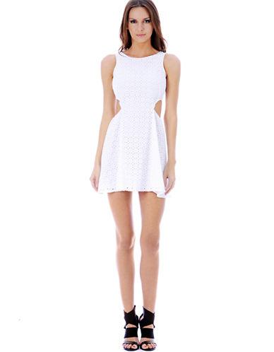 Shop Buffalo David Bitton online and buy Buffalo David Bitton Kirshelle Eyelet Cutout Dress dress online