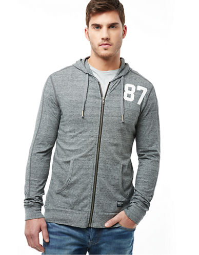 BUFFALO DAVID BITTON Nirorian Heathered Number Hoodie