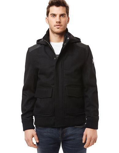 BUFFALO DAVID BITTONJutania Wool-Blend Hooded Jacket
