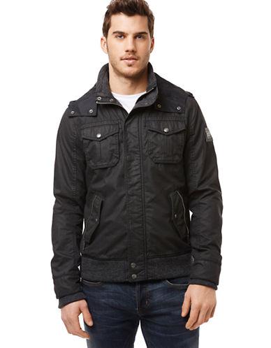 BUFFALO DAVID BITTONJacat Knit Trim Hooded Jacket