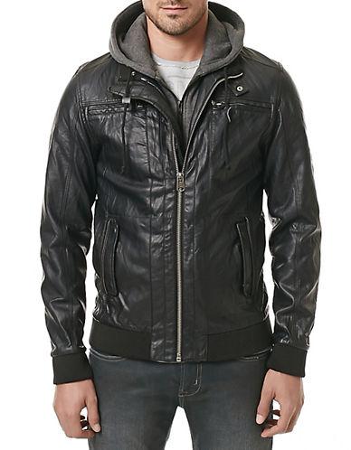 Buffalo David Bitton Jiptical Faux Leather Bomber Jacket