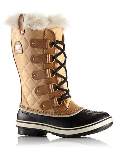 SORELTofino Faux-Fur Accented Quilted Canvas Boots