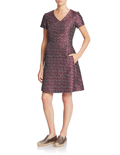 WEEKEND MAX MARA V-Neck Fit-and-Flare Dress