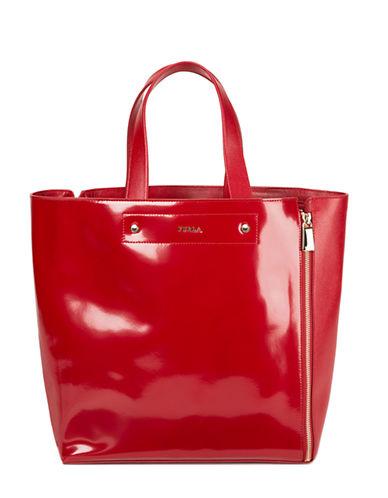 FURLAMusa Leather Medium Zip Tote Bag