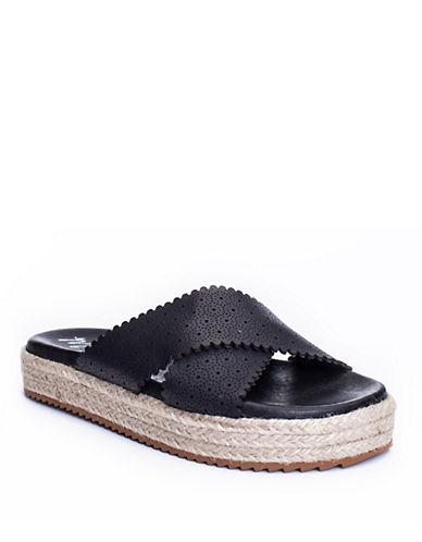 Buy Ponte Leather Slides by Matisse online