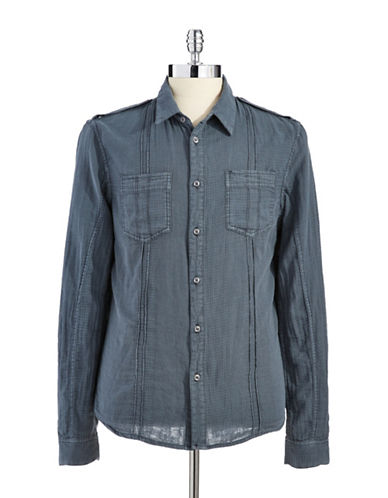 ROGUE STATE Vintage Style Button-Down Shirt