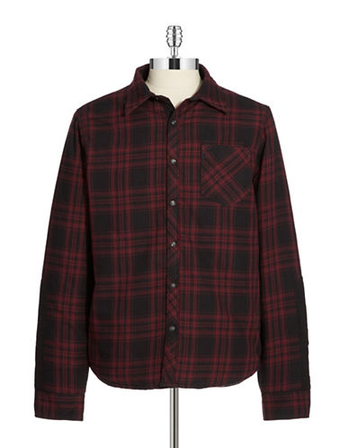 ROGUE STATE Plaid Button Down Utility Coat