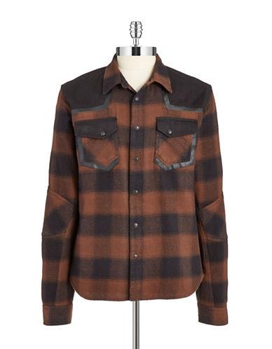 ROGUE STATEContrast Trim Flannel Sports Shirt