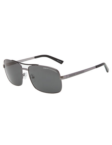 ARMANI EXCHANGE Square Aviator Sunglasses
