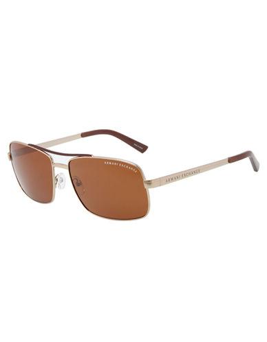 ARMANI EXCHANGESquare Aviator Sunglasses