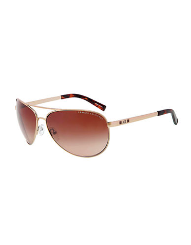 ARMANI EXCHANGE Rounded Aviator Sunglasses