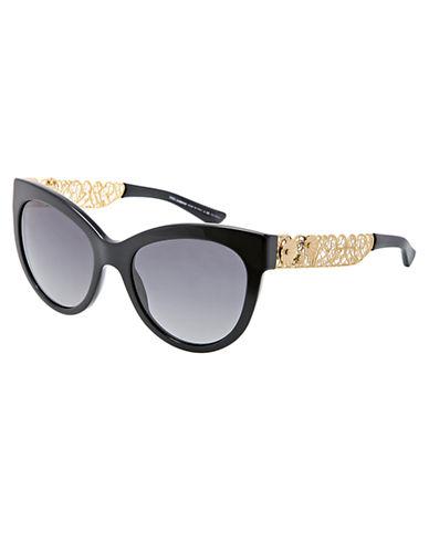 DOLCE & GABBANAFiligree-Embellished Oval Sunglasses