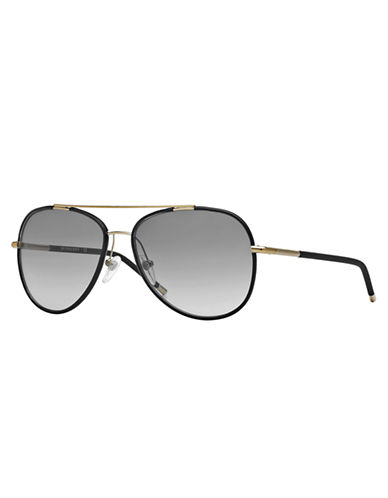 Burberry Black and Gold Aviators
