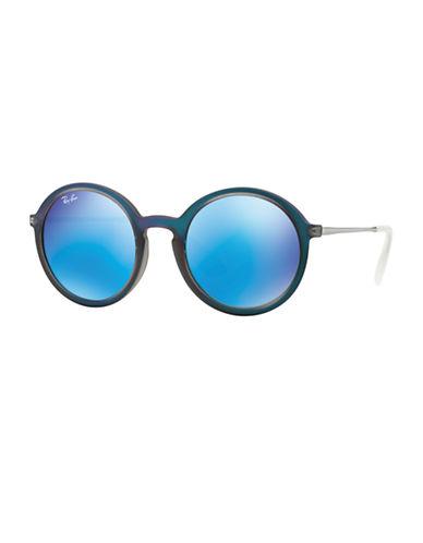 RAY-BANOversized Mirror Round 50MM Sunglasses