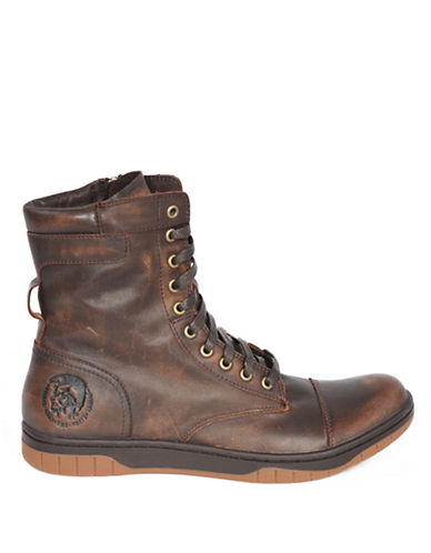 DIESELTatradium Basket Butch Leather Zip Boots