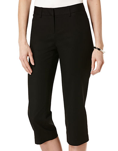 Rafaella Plus Plus Solid Double Weave Curvy Capri Pants