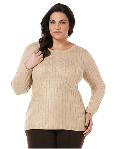 Rafaella Plus Plus Coated Cable Sweater