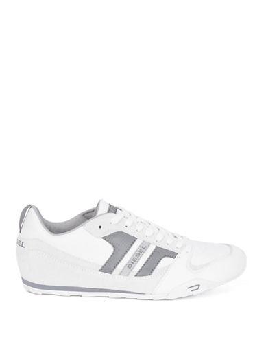 DIESELLong Term Gunner Leather Sneakers
