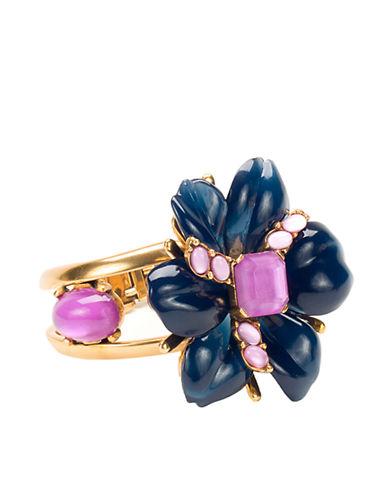 OSCAR DE LA RENTANavy & Fuchsia Floral Cuff Bracelet