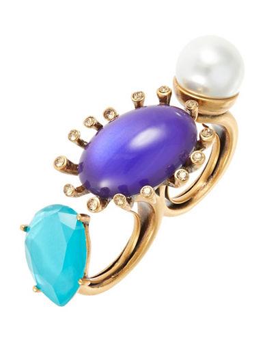 OSCAR DE LA RENTAStone Knuckle Ring