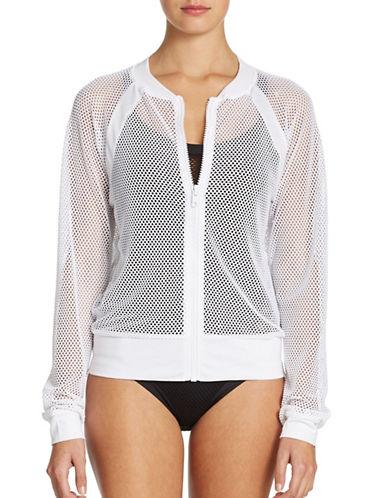 Shop Becca Swim online and buy Becca Swim Meshed Up Jacket dress online