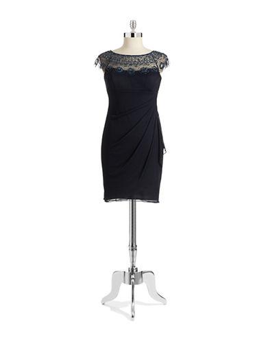 XSCAPEPetite Illusion Sweetheart Chiffon Dress