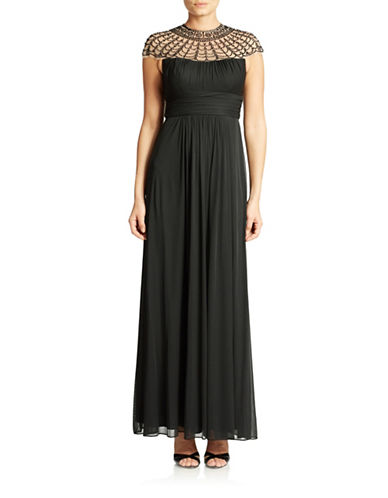 Beaded Yoke Gown $103.05 AT vintagedancer.com