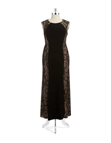Xscape Plus Lace Accented Gown
