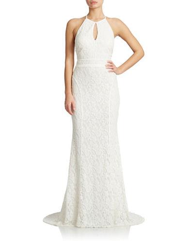 UPC 808593773352 - Xscape Lace Keyhole Halter Gown | upcitemdb.com