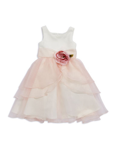 US ANGELSGirls 2-6x Tiered Tulle Flower Girl Dress