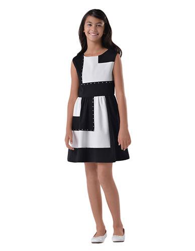 US ANGELSGirls 7-16 Ponte Knit Color-Block Dress