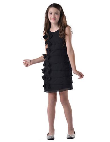 US ANGELSGirls 7-16 Sleeveless Ruffle Sheath Dress