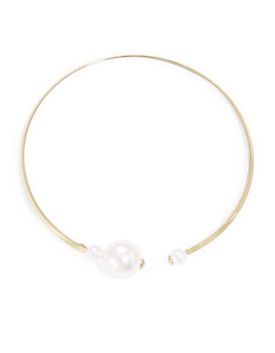 KENNETH JAY LANE Faux Pearl C Necklace