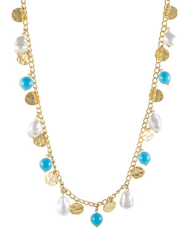 Kenneth Jay Lane Faux Pearl Beaded Collar Necklace