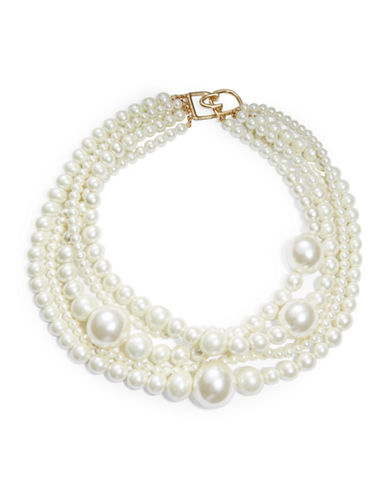 KENNETH JAY LANEFaux Pearl Multi-Row Collar Necklace