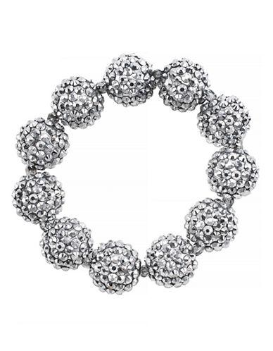 KENNETH JAY LANESilver-Tone Glitz Ball Stretch Bracelet