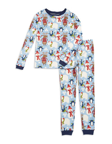 Klever Kids Snow Friends Holiday Pajama Set for Toddlers and Boys