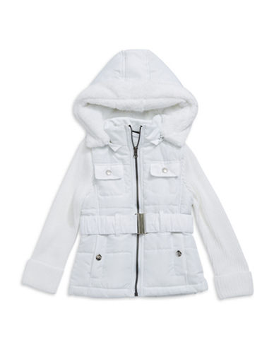 ONLY KIDS APPARELGirls 2-6x Knit Sleeved Puffer Jacket