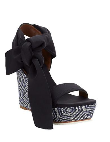 DONALD J. PLINERNela Platform Wedge Sandals