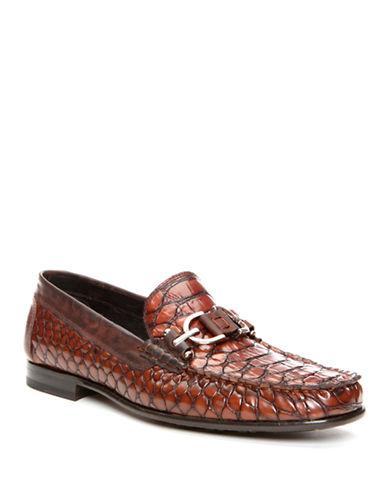 DONALD J. PLINERDarwin Python Leather Loafers