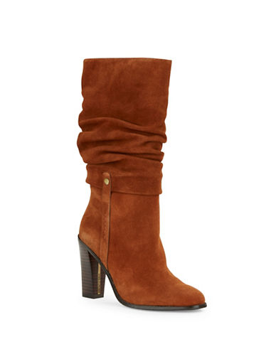 Buy Odessa Suede Mid-Calf Boots by Donald J. Pliner online