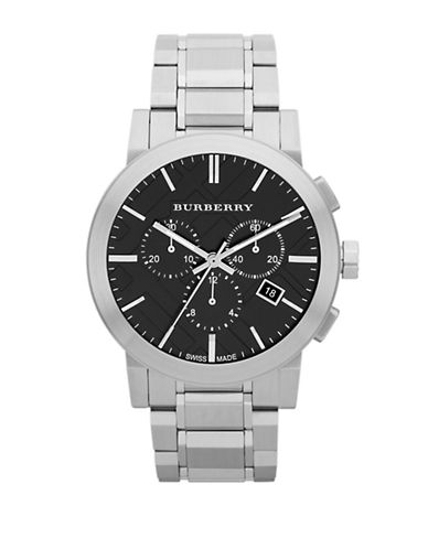 BURBERRYMens Stainless Steel Chronograph Watch