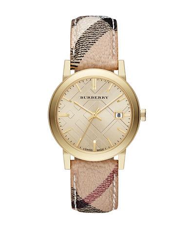 BURBERRYLadies City Yellow Gold-Tone Watch