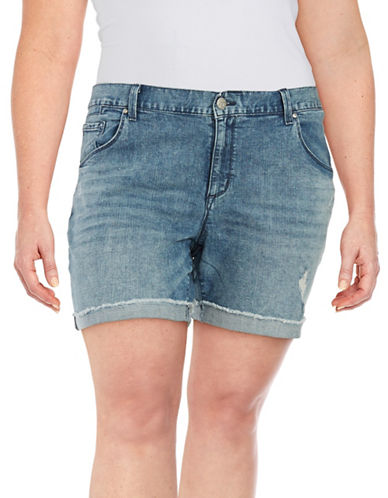 Monroe Denim Shorts plus size,  plus size fashion plus size appare